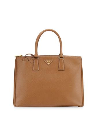 Saffiano Lux Executive Tote Bag, Camel (Cannella)