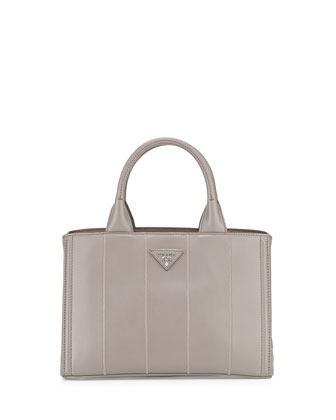 Soft Calfskin Small Garden Bag, Gray (Argilla)