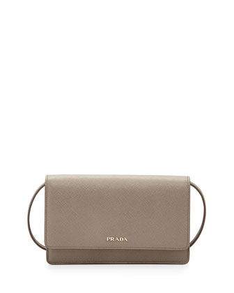 Saffiano Lux Mini Crossbody Bag,