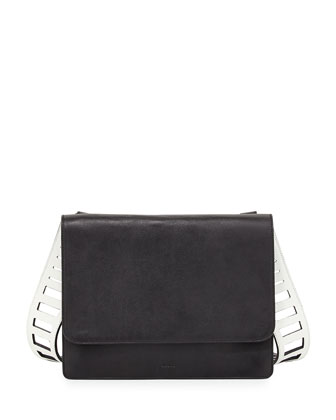 Cutout Collection Crossbody Bag, Black/Off White