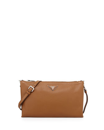 Vitello Daino Crossbody Bag, Camel (Cannella)
