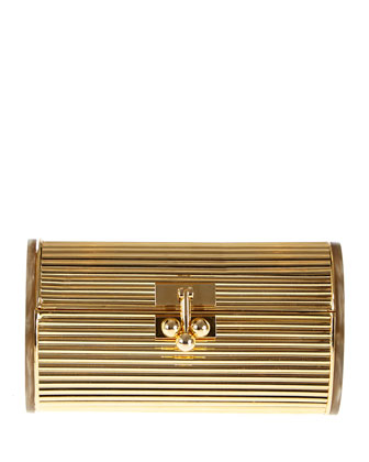 Dani Metallic Backlit Clutch Bag, Golden/Taupe