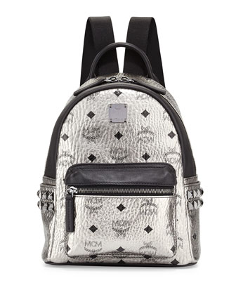 Stark Side Stud Mini Backpack, Silver