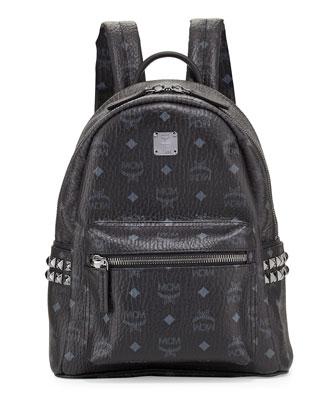 Stark Side Stud Small Backpack, Black