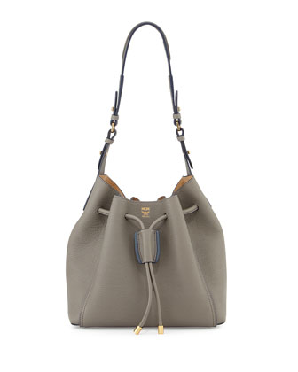 Milla Drawstring Bucket Bag, Bungee Cord (Gray)