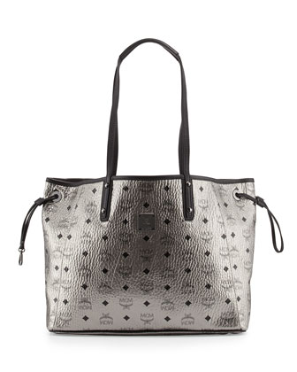 Shopper Project Visetos Reversible Tote Bag, Silver