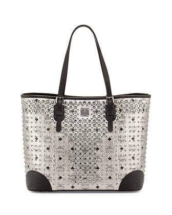 Diamond Visetos Tote Bag, Silver