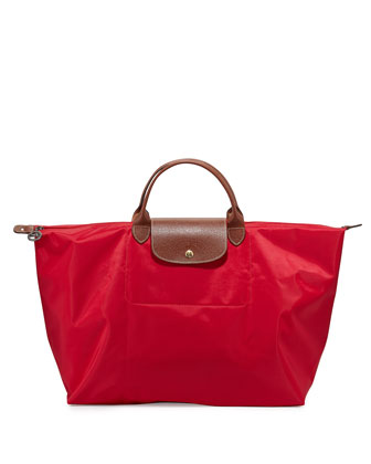 Le Pliage Large Travel Tote Bag, Red Garance