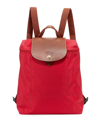 Le Pliage Nylon Backpack, Red Garance