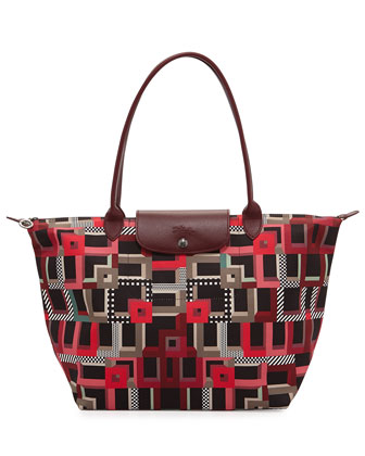 Le Pliage Art Walk Large Shoulder Tote Bag, Opera