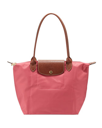 Le Pliage Medium Shoulder Tote Bag, Malabar Pink
