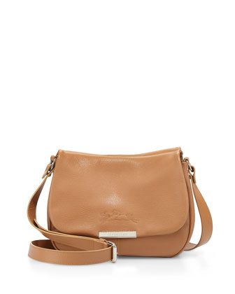 Le Foul Crossbody Flap-Top Bag, Light Tan