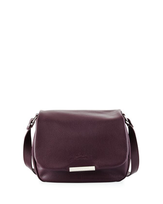 Le Foul Flap-Top Crossbody Bag, Black Currant