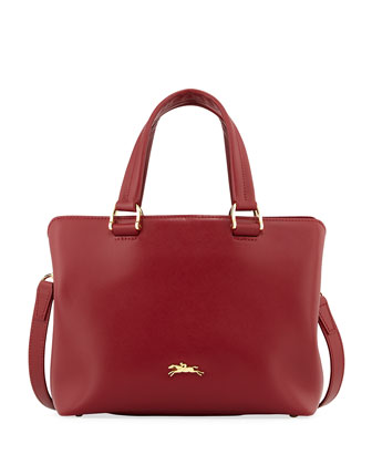 Honore Handbag w/ Removable Strap, Opera Red