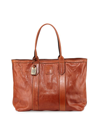 Sylvia Leather Tote Bag, Spice