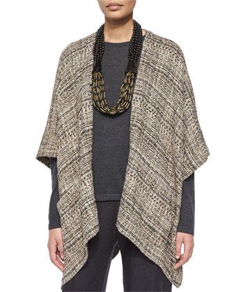 Embroidered Devore Velvet Open Jacket, A-Line Silk Shell, Flared Silk ...