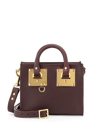 Albion Leather Box Tote Bag, Oxblood