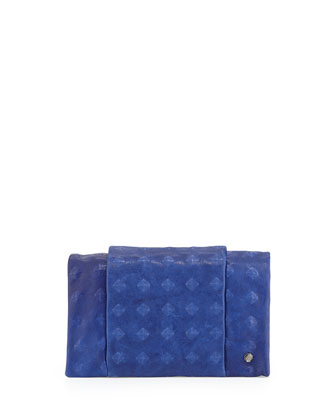Studded Wallet Clutch Bag, Bright Indigo