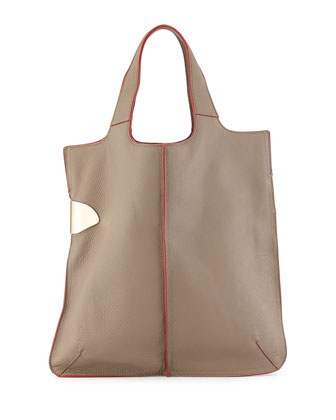 Large Tote Bag, Dark Ash