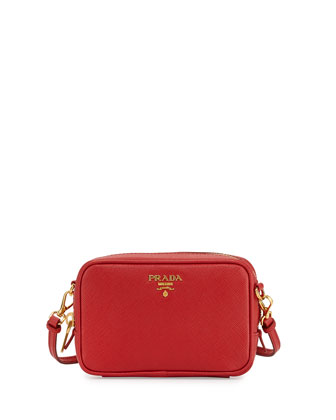Saffiano Camera Bag, Red (Rosso)
