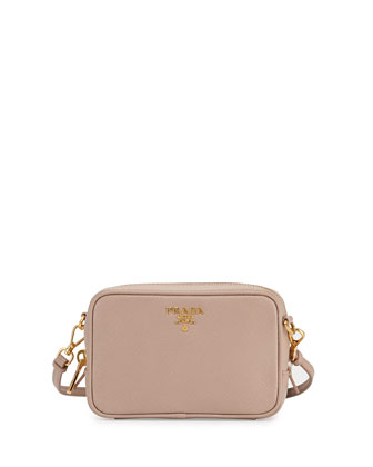 Saffiano Camera Bag, Blush (Cammeo)