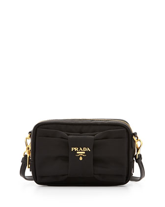 Nylon Bow Camera Bag, Black (Nero)