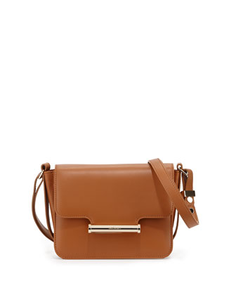 Diane Mini Flap Crossbody Bag, Tan