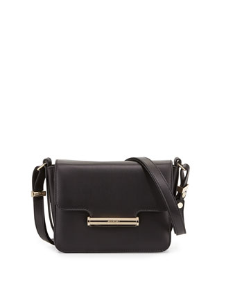 Diane Mini Flap Crossbody Bag, Black