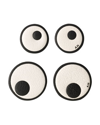 Leather Eye Stickers for Handbag, Chalk