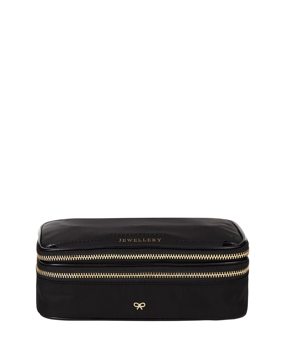 Nylon Jewelry Pouch, Black - Anya Hindmarch
