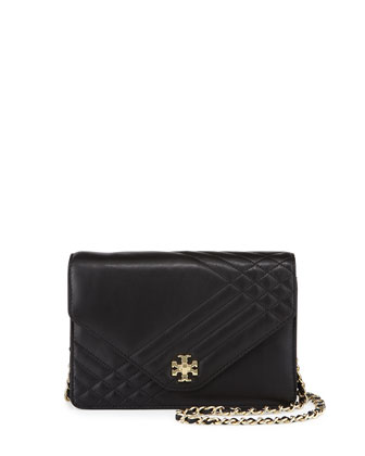 Kira Quilted Crossbody Bag, Black