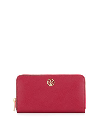 Robinson Continental Zip Wallet, Raspberry