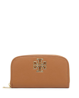 Britten Zip Continental Wallet, Bark