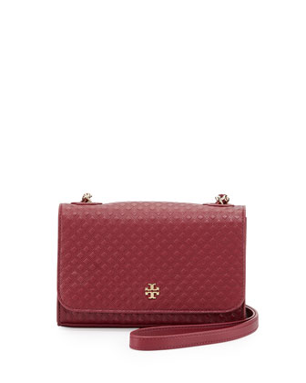 Marion Quilted Shrunken Shoulder Bag, Red Agate