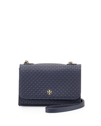 Marion Quilted Shrunken Shoulder Bag, Tory Navy