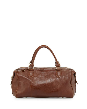 Quinn Leather Duffel Bag, Toffee