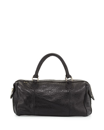 Quinn Leather Duffel Bag, Black