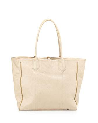 Reese Leather Tote Bag, Cashmere