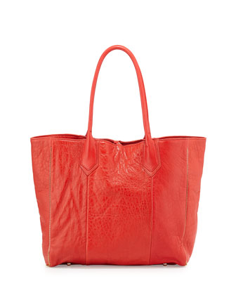 Reese Leather Tote Bag, Fire