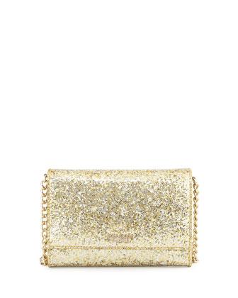 glitter bug cami crossbody bag, gold/silver