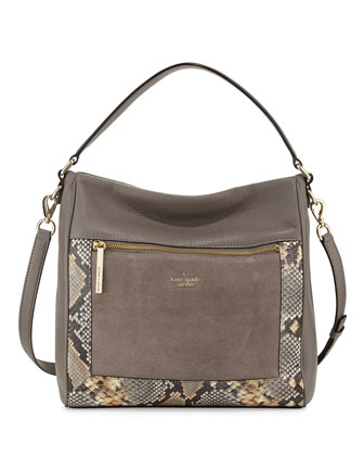 chatham lane harris shoulder bag, stone gray