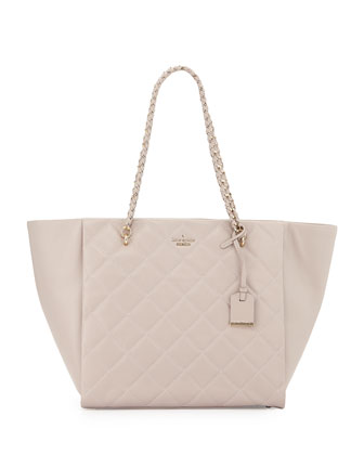 emerson place francelle tote bag, mousse/frosting
