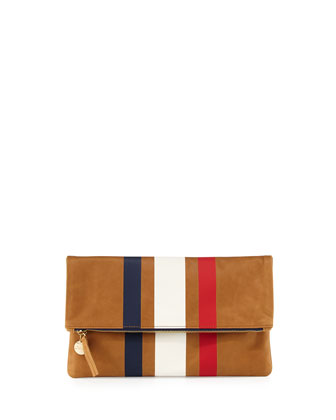 Supreme Striped Fold-Over Clutch Bag