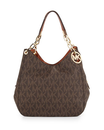 Fulton Large Tote Bag, Brown