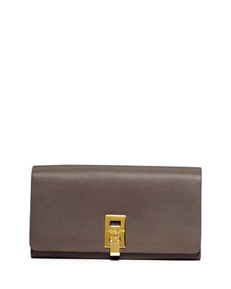 Miranda Leather Wallet, Elephant