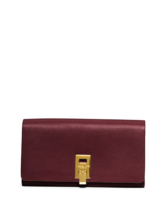 Miranda Leather Wallet, Bordeaux