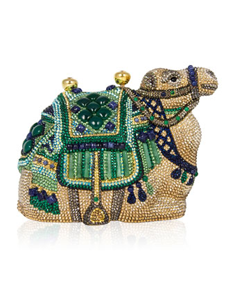 Sodalite & Green Onyx Crystal Camel Clutch Bag