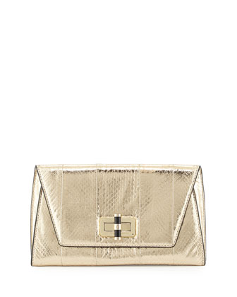 440 Gallery Uptown Clutch Bag, Light Gold