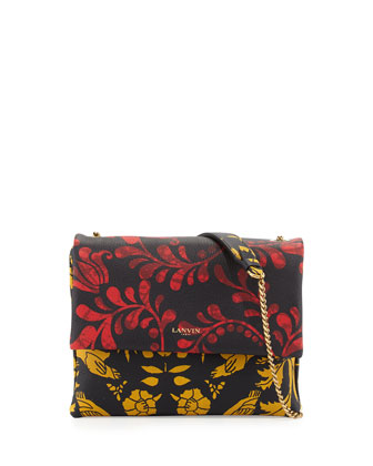 Mini Sugar Printed Crossbody Bag, Red