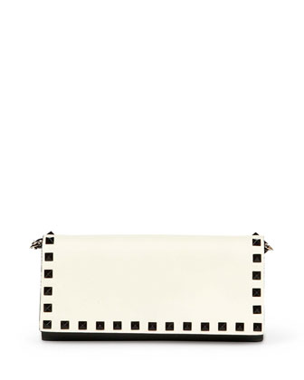 Rockstud Wallet-on-Chain, Black/Ivory